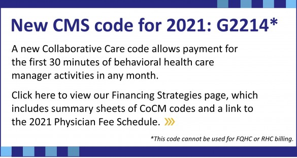 New CMS Code for 2021: G2214. Click here to find more information on our Financing Strategies page.